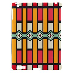 Rhombus And Stripes Patternapple Ipad 3/4 Hardshell Case (compatible With Smart Cover) by LalyLauraFLM