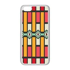 Rhombus And Stripes Pattern			apple Iphone 5c Seamless Case (white) by LalyLauraFLM