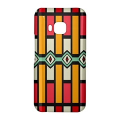 Rhombus and stripes pattern			HTC One M9 Hardshell Case by LalyLauraFLM