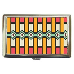 Rhombus And Stripes Pattern 			cigarette Money Case by LalyLauraFLM