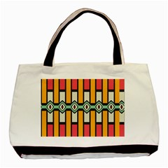 Rhombus And Stripes Pattern 			basic Tote Bag by LalyLauraFLM