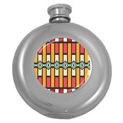 Rhombus And Stripes Pattern hip Flask (5 Oz) by LalyLauraFLM