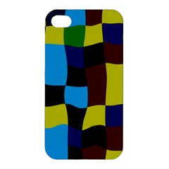 Distorted Squares In Retro Colors			apple Iphone 4/4s Premium Hardshell Case by LalyLauraFLM