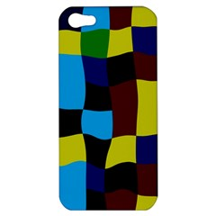 Distorted Squares In Retro Colorsapple Iphone 5 Hardshell Case by LalyLauraFLM