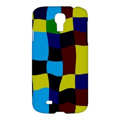 Distorted Squares In Retro Colors			samsung Galaxy S4 I9500/i9505 Hardshell Case by LalyLauraFLM
