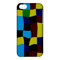 Distorted Squares In Retro Colors			apple Iphone 5c Hardshell Case by LalyLauraFLM