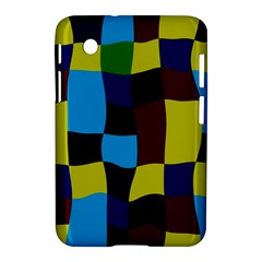 Distorted Squares In Retro Colors			samsung Galaxy Tab 2 (7 ) P3100 Hardshell Case by LalyLauraFLM