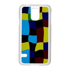 Distorted Squares In Retro Colorssamsung Galaxy S5 Case (white) by LalyLauraFLM