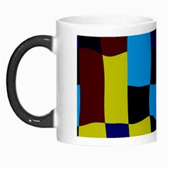 Distorted Squares In Retro Colors Morph Mug by LalyLauraFLM