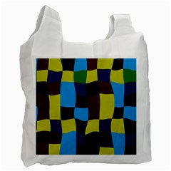 Distorted Squares In Retro Colors recycle Bag (one Side) by LalyLauraFLM