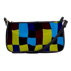 Distorted Squares In Retro Colors 			shoulder Clutch Bag by LalyLauraFLM