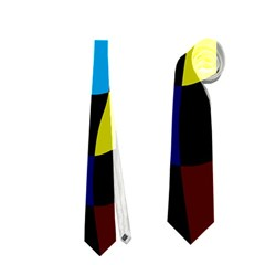 Distorted Squares In Retro Colors Necktie by LalyLauraFLM