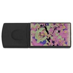 Floral Art Studio 12216 Usb Flash Drive Rectangular (4 Gb)  by MoreColorsinLife