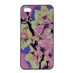 Floral Art Studio 12216 Apple Iphone 4/4s Seamless Case (black) by MoreColorsinLife