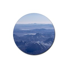 Window Plane View Of Andes Mountains Rubber Round Coaster (4 Pack)  by dflcprints