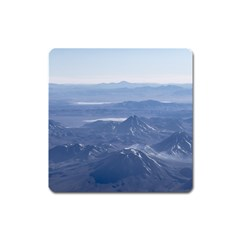 Window Plane View Of Andes Mountains Square Magnet by dflcprints
