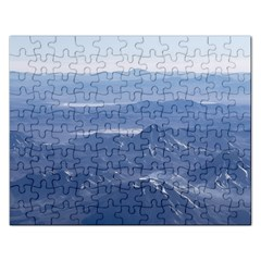Window Plane View Of Andes Mountains Rectangular Jigsaw Puzzl by dflcprints