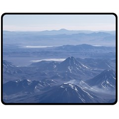 Window Plane View Of Andes Mountains Fleece Blanket (medium)  by dflcprints