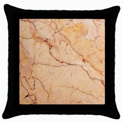 Stone Floor Marble Throw Pillow Cases (black) by essentialimage