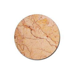 Stone Floor Marble Rubber Coaster (round)  by essentialimage