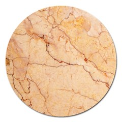 Stone Floor Marble Magnet 5  (round) by essentialimage