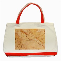Stone Floor Marble Classic Tote Bag (red)  by essentialimage