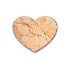 Stone Floor Marble Rubber Coaster (heart)  by essentialimage