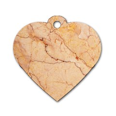Stone Floor Marble Dog Tag Heart (one Side) by essentialimage