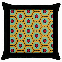 Floral Pattern 			throw Pillow Case (black) by LalyLauraFLM