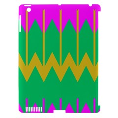 Chevronsapple Ipad 3/4 Hardshell Case (compatible With Smart Cover) by LalyLauraFLM