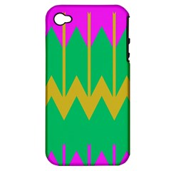 Chevrons			apple Iphone 4/4s Hardshell Case (pc+silicone) by LalyLauraFLM