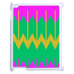 Chevrons			apple Ipad 2 Case (white) by LalyLauraFLM