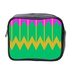 Chevrons Mini Toiletries Bag (two Sides) by LalyLauraFLM