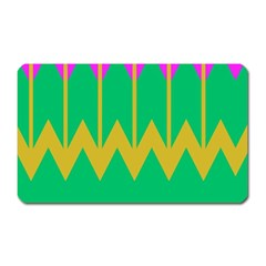 Chevrons 			magnet (rectangular) by LalyLauraFLM