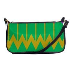 Chevrons shoulder Clutch Bag by LalyLauraFLM