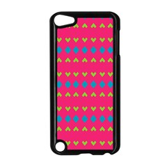 Hearts And Rhombus Patternapple Ipod Touch 5 Case (black) by LalyLauraFLM