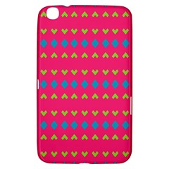 Hearts And Rhombus Pattern			samsung Galaxy Tab 3 (8 ) T3100 Hardshell Case by LalyLauraFLM
