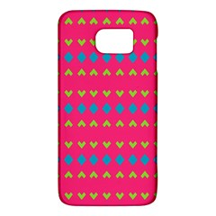 Hearts And Rhombus Patternsamsung Galaxy S6 Hardshell Case by LalyLauraFLM