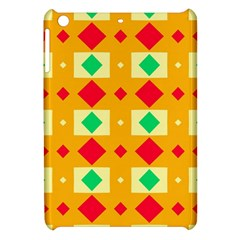 Green Red Yellow Rhombus Pattern			apple Ipad Mini Hardshell Case by LalyLauraFLM