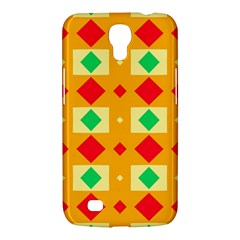 Green Red Yellow Rhombus Pattern			samsung Galaxy Mega 6 3  I9200 Hardshell Case by LalyLauraFLM
