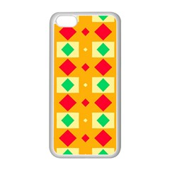 Green Red Yellow Rhombus Pattern			apple Iphone 5c Seamless Case (white) by LalyLauraFLM