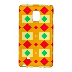 Green red yellow rhombus patternSamsung Galaxy Note Edge Hardshell Case by LalyLauraFLM