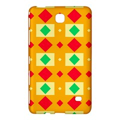 Green Red Yellow Rhombus Pattern			samsung Galaxy Tab 4 (8 ) Hardshell Case by LalyLauraFLM
