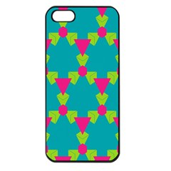 Triangles Honeycombs And Other Shapes Pattern			apple Iphone 5 Seamless Case (black) by LalyLauraFLM