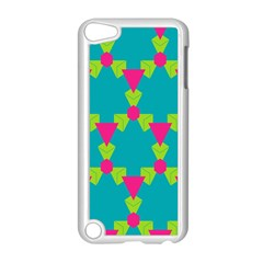 Triangles Honeycombs And Other Shapes Patternapple Ipod Touch 5 Case (white) by LalyLauraFLM