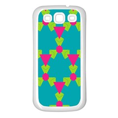 Triangles Honeycombs And Other Shapes Pattern			samsung Galaxy S3 Back Case (white) by LalyLauraFLM
