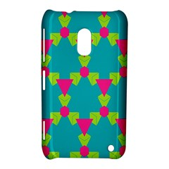 Triangles Honeycombs And Other Shapes Patternnokia Lumia 620 Hardshell Case by LalyLauraFLM