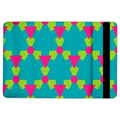Triangles Honeycombs And Other Shapes Pattern			apple Ipad Air 2 Flip Case by LalyLauraFLM