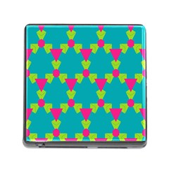 Triangles Honeycombs And Other Shapes Pattern 			memory Card Reader (square) by LalyLauraFLM