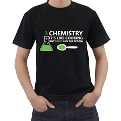 Funny Chemistry Sayings Men s T Shirt (black) by twistedtee